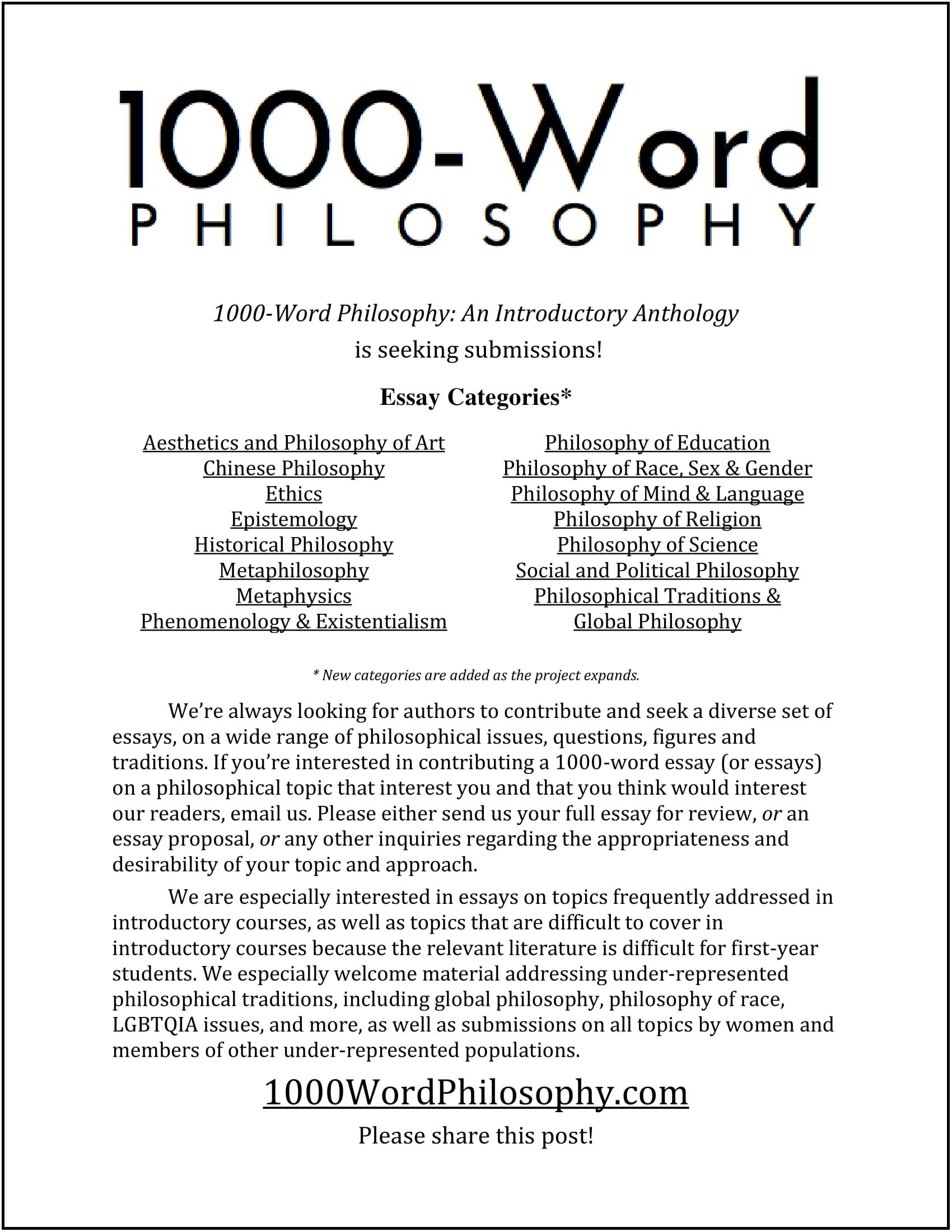 picture of the 1000-word philosophy article